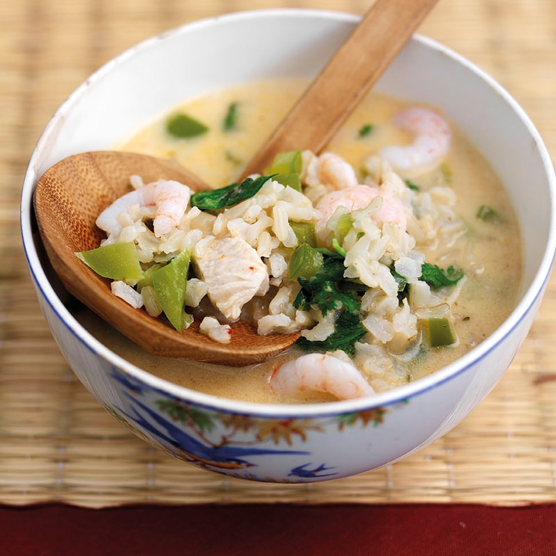 Asian Chicken & Wholegrain Brown Rice Soup