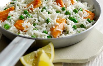 Cheat's Salmon & Lemon Risotto