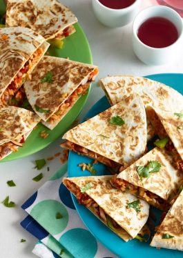 Chorizo & Mixed Bean Quesadillas