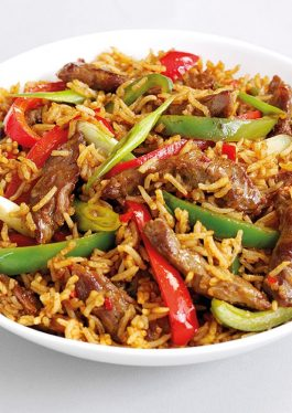 Stir Fried Lamb and Peppers
