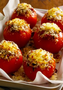 Long Grain Rice Stuffed Tomatoes