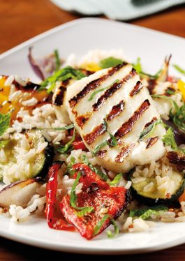 Rice, Quinoa & Grilled Halloumi Salad