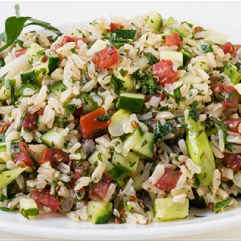 Wholegrain Brown Rice and Quinoa Tabbouleh Salad
