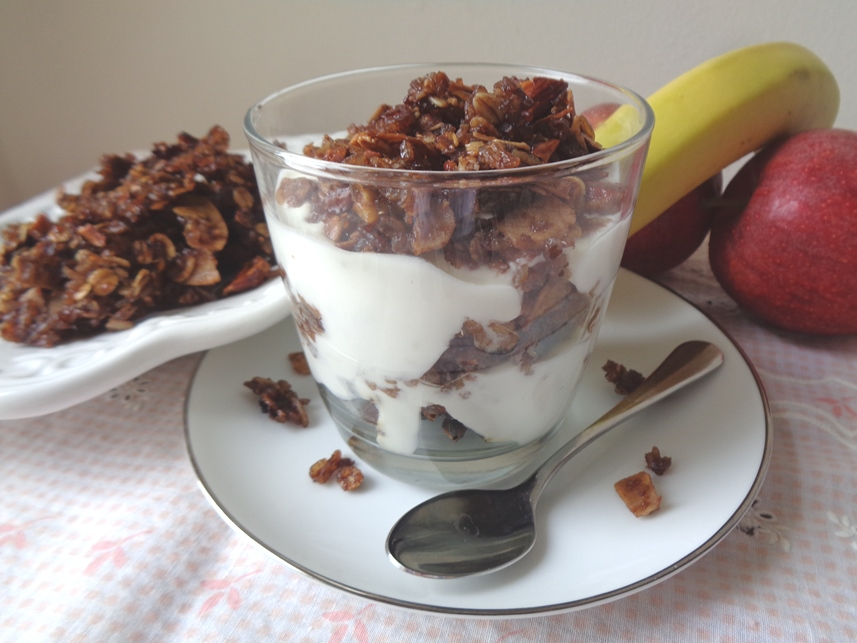 Chocolate Coconut Almond Rice Granola