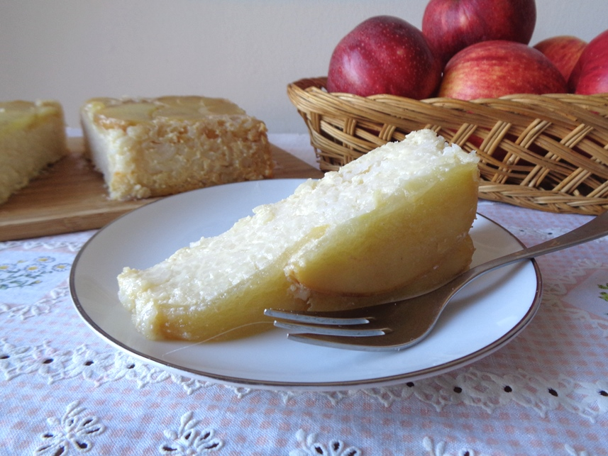 Gluten Free Guilt Free Apple Upside Down Rice Cheesecake