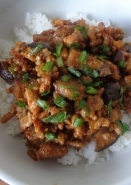 Mapo Eggplant Rice Bowl