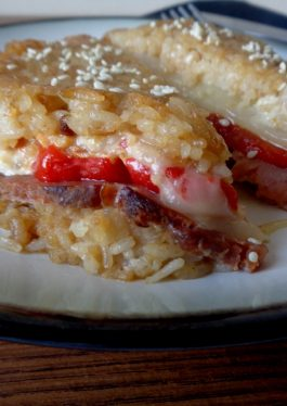 Oven Baked Grilled Cheese Rice Sandwich