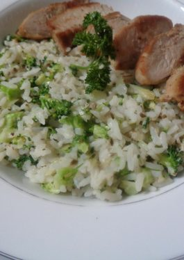 Oregano Cream Cheese Broccoli Risotto