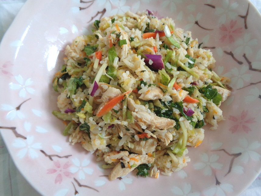 Basil Orange Chicken Rice Salad