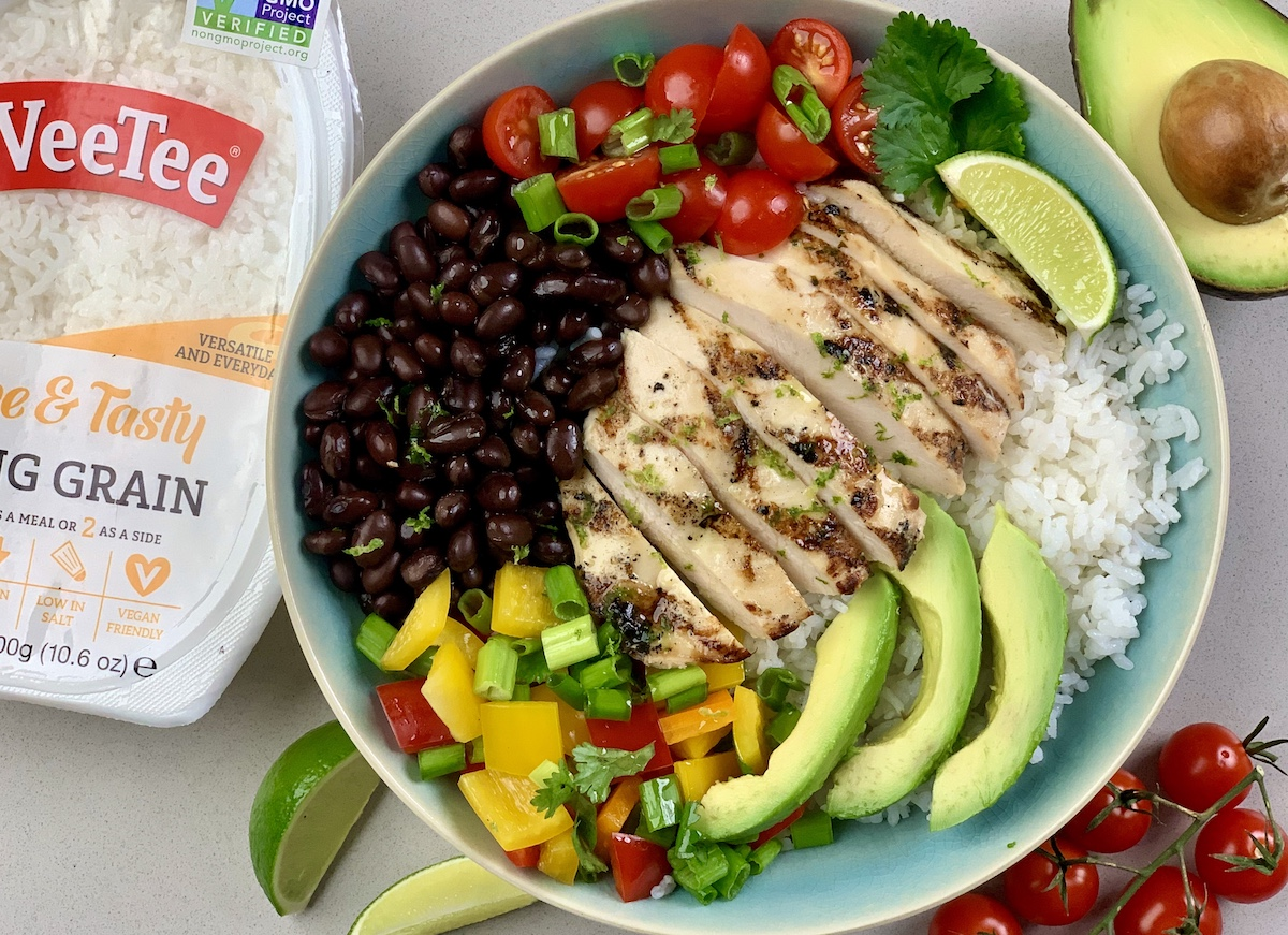 Cilantro-Lime Grilled Chicken Fajita Bowls
